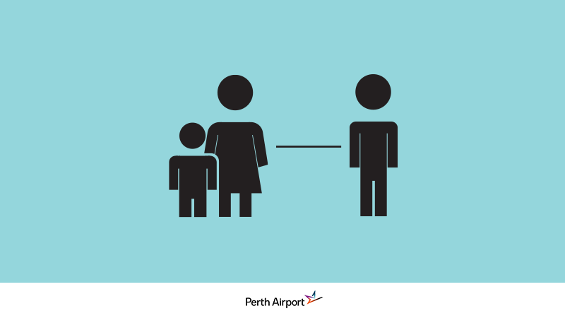 Leave space, stay safe - new safety measures at Perth Airport