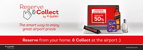 Reserve your duty free from home and collect at the airport with Dufry