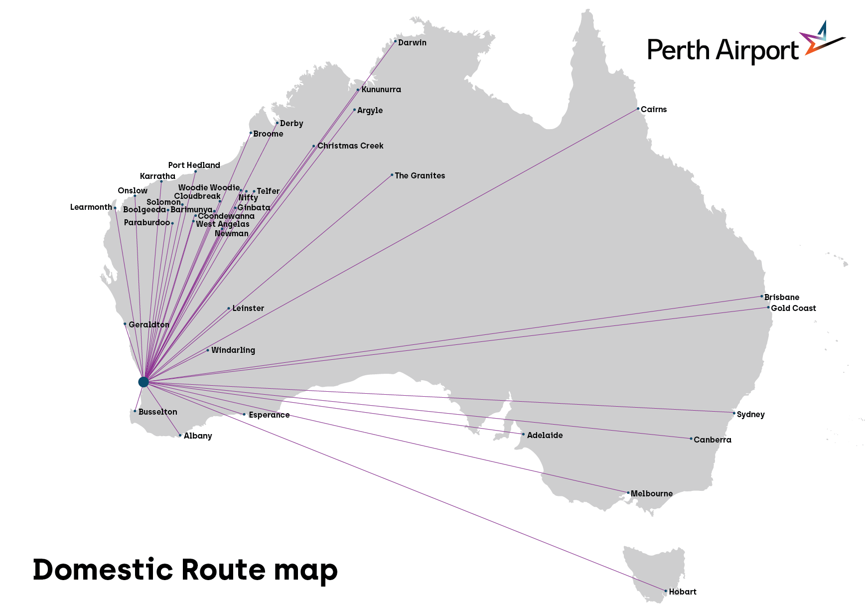 Florida Airports Map.Perth Airport Passengers Route Maps
